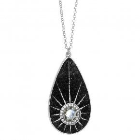 Necklace silver 925 rhodium plated with zirconia and glitter - WANNA GLOW