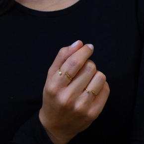 Rings in silver 925 yellow gold plated with zirconia - Simply Me