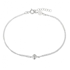 Bracelet gold 14 carats with zirconia - My Gold