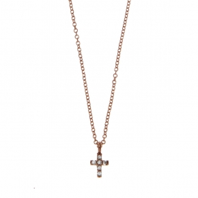 Necklace gold K14 with zircon - My Gold