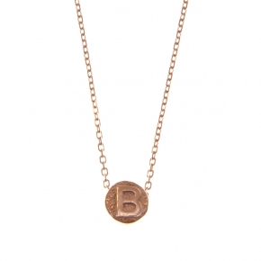 Necklace silver 925 rose gold plated - Wish Luck