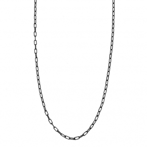 Necklace silver 925 black rhodium plated - Funky Metal
