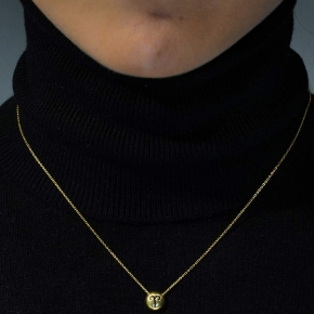 Necklace silver 925 zodiac (aries) yellow gold plated with enamel - Wish Luck