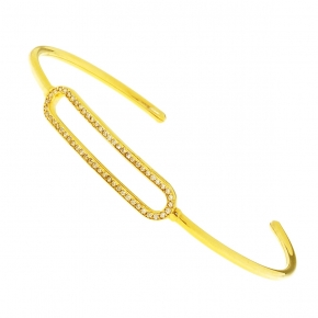 Bracelet in silver 925 yellow gold plated with zirconia - WANNA GLOW