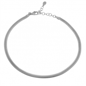 Foot chain silver 925 rhodium plated - Funky Metal