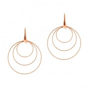 Earrings in silver 925 rose gold plated - Funky Metal