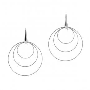 Earrings in silver 925 rhodium plated - Funky Metal