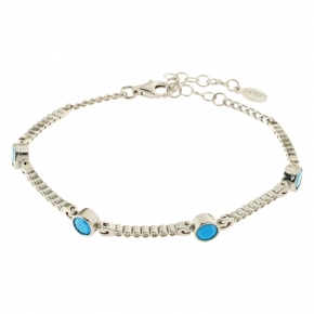 Bracelet silver 925 rhodium plated with zirconia - Color Me
