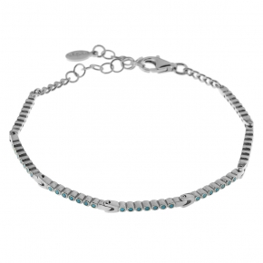 Bracelet silver 925 rhodium plated with zirconia - Simply Me