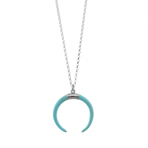 Necklace silver 925 rhodium plated with enamel - WANNA GLOW