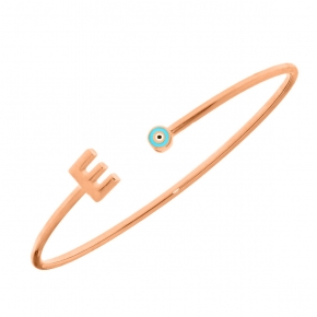 Bracelet silver 925 rose gold plated with enamel - Wish Luck