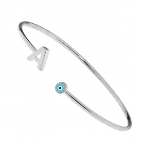 Bracelet silver 925 rhodium plated with enamel - Wish Luck
