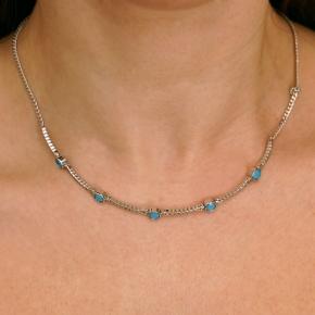 Necklase silver 925 rhodium plated with zirconia - Color Me