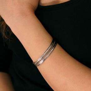 Bracelet silver 925 rhodium plated - Funky Metal