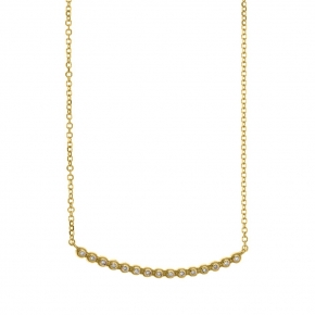 Necklace gold 14 carats with diamonds tw 0,09 ct - My Gold