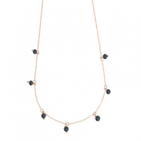 Necklace gold 14 carats with hematite - My Gold