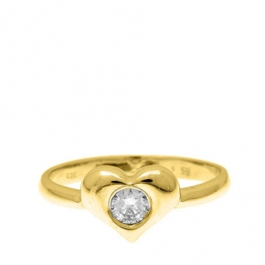 Ring gold 14 carats with diamonds tw 0,15ct - My Gold