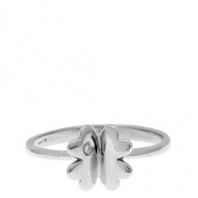 Ring gold 14 carats with diamonds tw 0,01 ct - My Gold