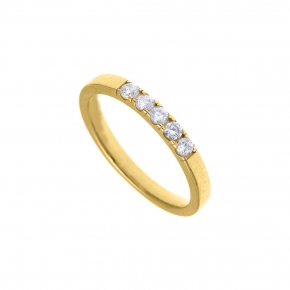 Ring gold K14 with zirconia - My Gold