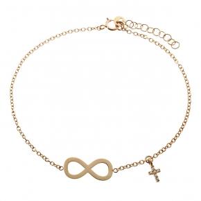 Bracelet gold K14 with zirconia - My Gold