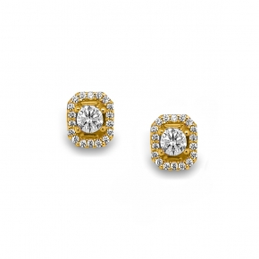 Earrings gold K14  with zirconia - My Gold