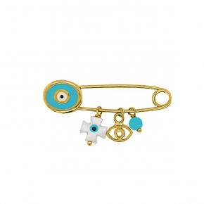Pin in gold 14ct with enamel - My Gold