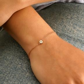 Bracelet gold K14 with enamel evil eye - My Gold