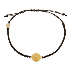 Bracelet gold K14 with cord - My Gold