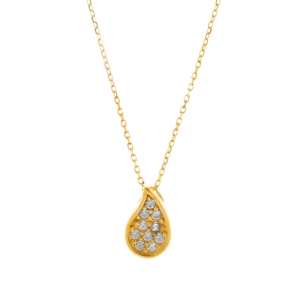Necklace gold K14 with zirconia - My Gold