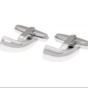 Cuff Links in silver 925, platinum plated