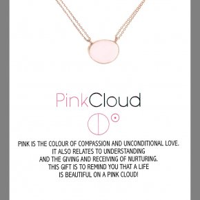 Necklace in silver 925, pink gold plated with crystal
