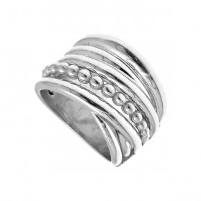 Ring Silver 925, rhodium plated