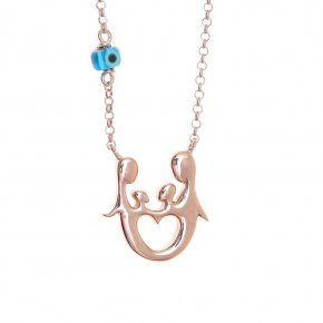 Necklace in silver 925 pink gold plated