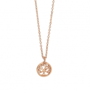 Necklace in silver 925, pink gold plated