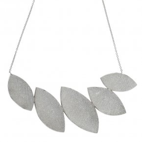 Necklace in silver 925, rhodium plated
