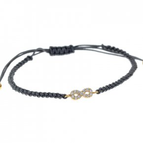 Bracelet in silver 925, gold plated with white zirconia