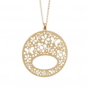 Necklace in silver 925, gold plated