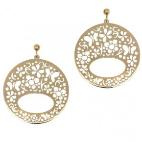 Earrings in silver 925, gold plated