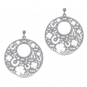 Earrings in silver 925, rhodium plated