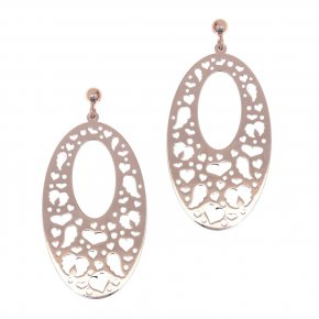 Earrings in silver 925, pink gold plated