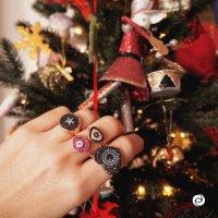 Christmas glow rings